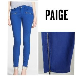 PAIGE Jane Zip Detail Ankle Ultra Skinny Jeans